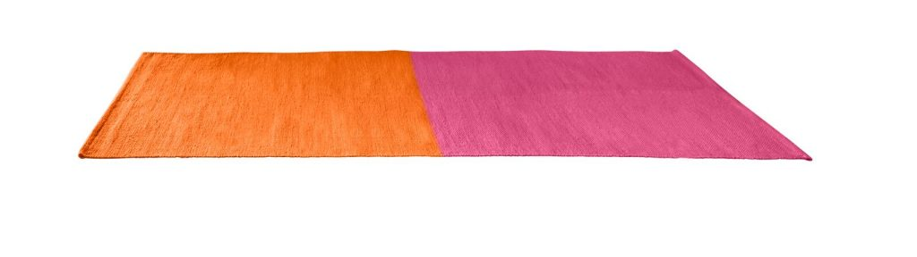 Cotton Rug Pink-Orange, 80 x 200